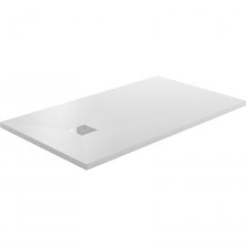 Plato de ducha GME RESITEC  1500, ancho de 70 cm, largo de 100 cm, en color blanco