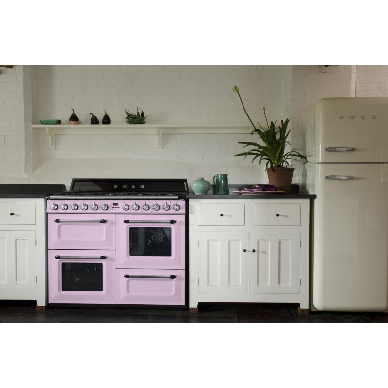 Cocina con horno el ctrico smeg tr4110ro m s de 4 zonas rosa - Cocina con horno ...