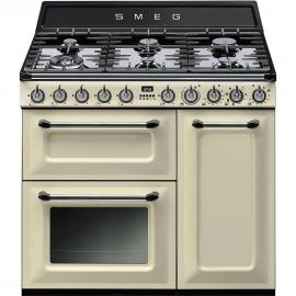 Cocina con horno eléctrico Más de 4 zonas SMEG TR93P, Crema/Beig