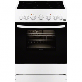 Cocina eléctrica ZANUSSI ZCV65201WA, 4 zonas, Blanco