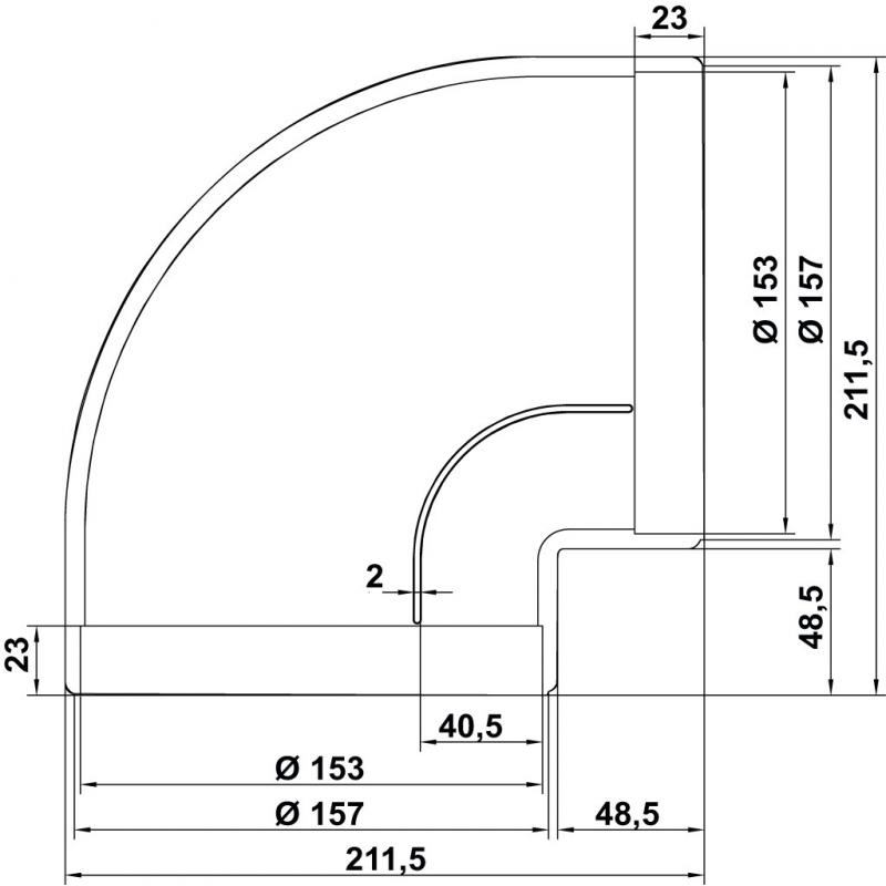 Tubo campana extractora 150 affordable codo rectangular for Tubo campana extractora rectangular