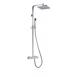 Grifo de ducha GME 3012 QUADRA TERMOSTATICA, Cromo, termostatico, Con equipo de ducha