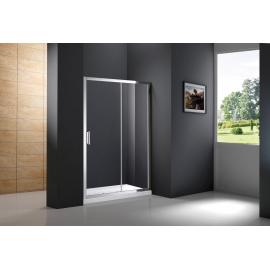Mampara de ducha PRESTIGE 0201+0814 frontal 1 fijo+ 1corr+lateral fijo , transparente