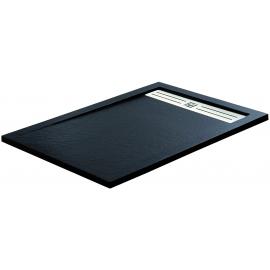 Plato de ducha STYLE PLUS 4913, ancho de 80 cm, largo de 140 cm, en color blanco, Resina carga mineral