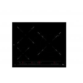 Encimera inducción  TEKA IT 6320, 3 zonas, Negro, acabado marco metalico, Zona Gigante
