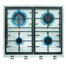 Encimera a gas  TEKA EX 60.1 4G AI AL DR CI NAT (E1), 4 zonas, Inoxidable,