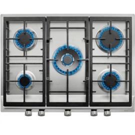 Encimera a gas  TEKA EX/70.1 5G AI AL DR CI NAT (E1), 5 zonas, Inoxidable,