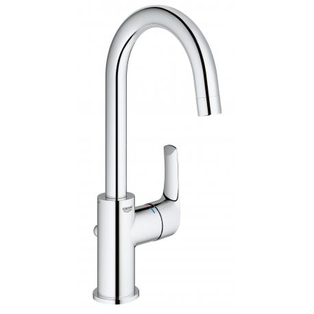 Grifo de lavabo GROHE 23537002 Eurosmart lav 28mm c/alto Eco vaciador L, Cromo, Sobre encimera