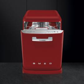 Lavavajillas 60 cm. SMEG LVFABRD, 13 cubiertos, Rojo, Clase A+++
