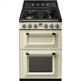 Cocina a gas  SMEG TR62P, 4 zonas, Crema, Zona Gigante