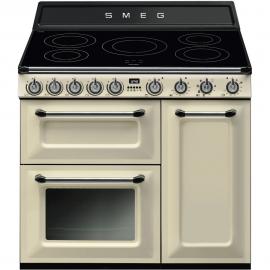 Cocina a gas SMEG TR93IP, Más de 4 zonas, Crema, Zona Gigante