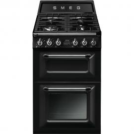 Cocina a gas  SMEG TR62BL, 4 zonas, Negro, Zona Gigante