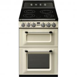 Cocina eléctrica  SMEG TR62IP, 4 zonas, Crema, Zona Gigante