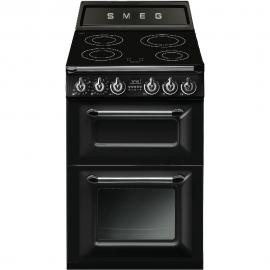 Cocina eléctrica  SMEG TR62IBL, 4 zonas, Negro, Zona Gigante