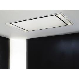 Campana de techo  PANDO E-205/110X70 BLANCA V.1200 EXT 9707, Más de 90 cm, Blanco, Clase B