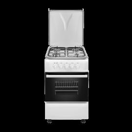 Cocina a gas EAS ELECTRIC EFG556W, 4 zonas, Blanco
