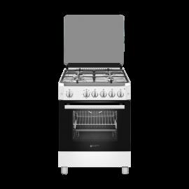 Cocina a gas EAS ELECTRIC EFG660W, 4 zonas, Blanco, Zona Gigante