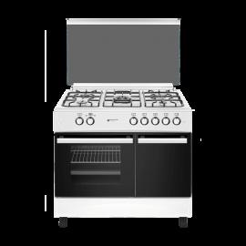 Cocina a gas EAS ELECTRIC EFG9B60W, Más de 4 zonas, Blanco, Zona Gigante
