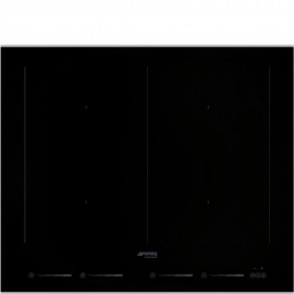Encimera inducción  SMEG Kitchen SIM662WLDX, Flexible, Negro, ,