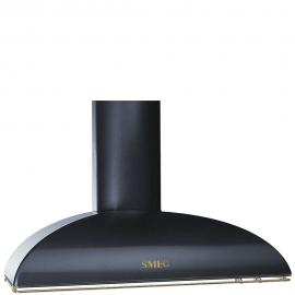 Campana decorativa  SMEG Kitchen KS89AOE, 90 cm, Negro, , Clase A