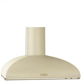 Campana decorativa  SMEG Kitchen KS89POE, 90 cm, Crema, , Clase A