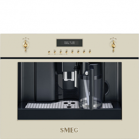 Cafetera  SMEG Kitchen CMS8451P, Integrable, Crema