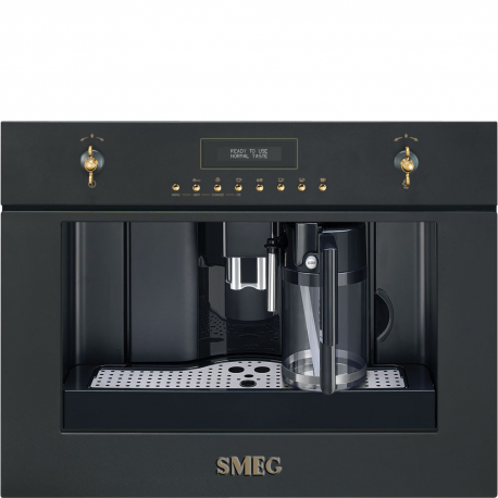 Cafetera  SMEG Kitchen CMS8451A, Integrable, Antracita
