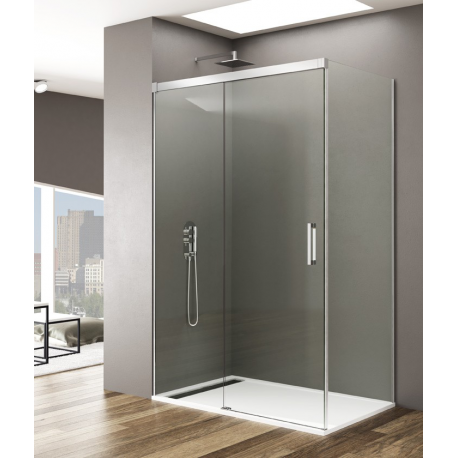 Mampara de ducha BASIC 5426 , frontal 1 fijo+ 80cm