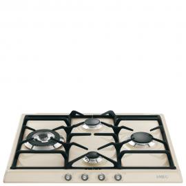 Encimera a gas SMEG kitchen SR764PS, 4 zonas, Crema/Beig, Zona Gigante