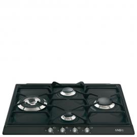 Encimera a gas SMEG kitchen SR764AS, 4 zonas, Antracita, Zona Gigante