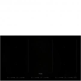 Encimera inducción  SMEG Kitchen SIM693WLDX, Flexible, Negro