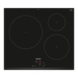 Encimera inducción SIEMENS EU631BJB2E, 3 zonas, Negro