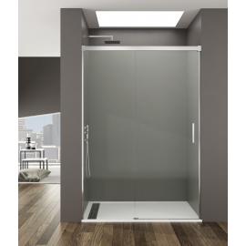 Mampara de ducha BASIC 5406 frontal 1 fijo+ 1corr , transparente ,