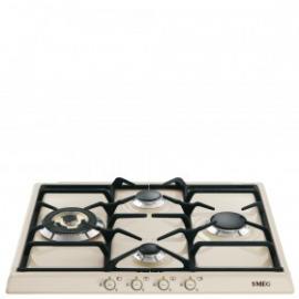Encimera a gas SMEG kitchen SR764PO, 4 zonas, Crema/Beig, Zona Gigante