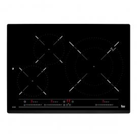 Encimera inducción TEKA IZ 5320, 3 zonas, Negro, acabado biselado