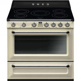 Cocina eléctrica Smeg TR90IP9, Más de 4 zonas, Crema