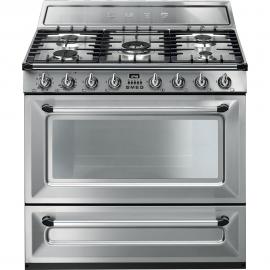 Cocina con horno eléctrico Smeg TR90X9, Más de 4 zonas, Inoxidable