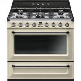Cocina con horno eléctrico Smeg TR90P9, Más de 4 zonas, Crema