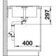Fregadero sobre encimera BLANCO 519565 METRA 45S COMPACT BLANCO  , Una cubeta, con escurridor, Blanco, acabado sintético