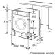 Lavadora carga frontal SIEMENS WI14W540ES, 8 Kg, de 1200 r.p.m., Integrable, Clase superior A+++