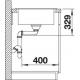 Fregadero sobre encimera BLANCO 519674 SONA 5S PDUR2 BLANCO, Una cubeta, con escurridor, Blanco, acabado sintético