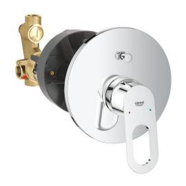 Grifo de baño  GROHE 29081000 Bauloop Monom para baño ducha empotrado incluye parte interior, Cromo Sistemas de ducha
