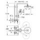 Grifo de ducha  GROHE 27922001 NTempCosmopolitan 210 sist.ducha term., Cromo Sistemas de ducha