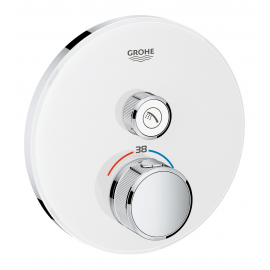 Grifo de ducha  GROHE 29150LS0 Termostato SmartControl 1, cristal blanco redondo, Blanco, termostatico Sistemas de ducha