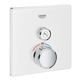 Grifo de ducha  GROHE 29153LS0 Termostato SmartControl 1, cristal blanco cuadrado, Blanco, termostatico Sistemas de ducha