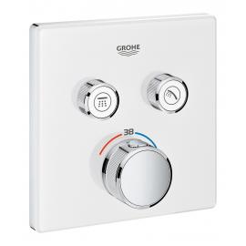 Grifo de ducha  GROHE 29156LS0 Termostato SmartControl 2, cristal blanco cuadrado, Blanco, termostatico Sistemas de ducha