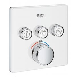 Grifo de ducha  GROHE 29157LS0 Termostato SmartControl 3, cristal blanco cuadrado, Blanco, termostatico Sistemas de ducha