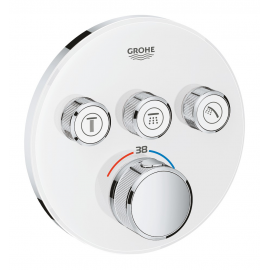 Grifo de ducha  GROHE 29904LS0 Termostato SmartControl 3, cristal blanco redondo, Blanco, termostatico Sistemas de ducha