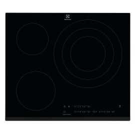 Encimera inducción  ELECTROLUX LIT60346, 3 zonas, Negro, acabado biselado, Zona Gigante