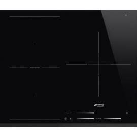 Encimera inducción SMEG Kitchen SI1M7633B, 3 zonas, Negro, acabado biselado
